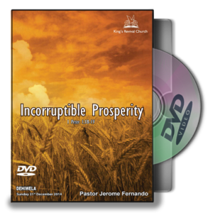 Incorruptible Prosperity (DVD)