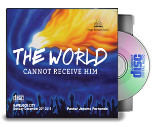 The World Cannot Receive Him