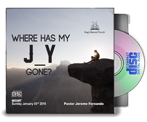Where has my J_Y gone? - By Pastor Jerome