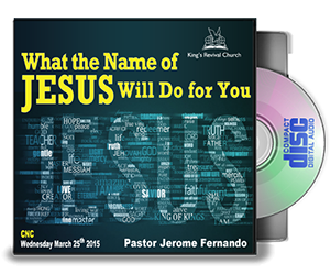 What the name of Jesus will do for you